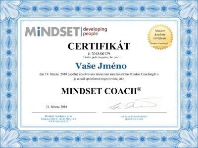 Certifikát Mindset Coach