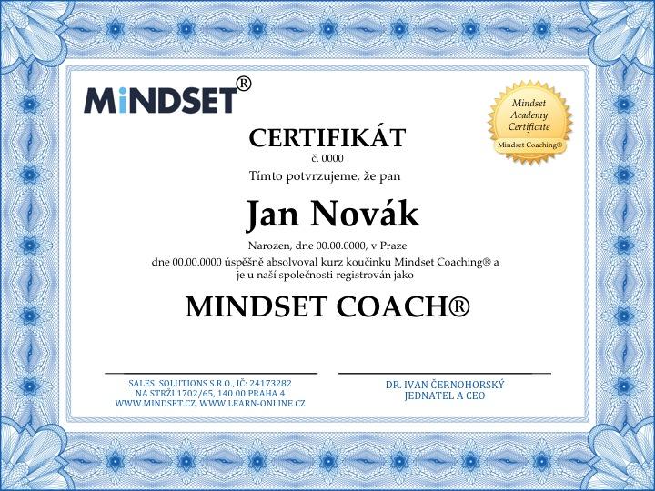 Mindset Academy Certificate