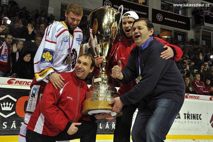 S pohárem vítěze české hokejové extraligy