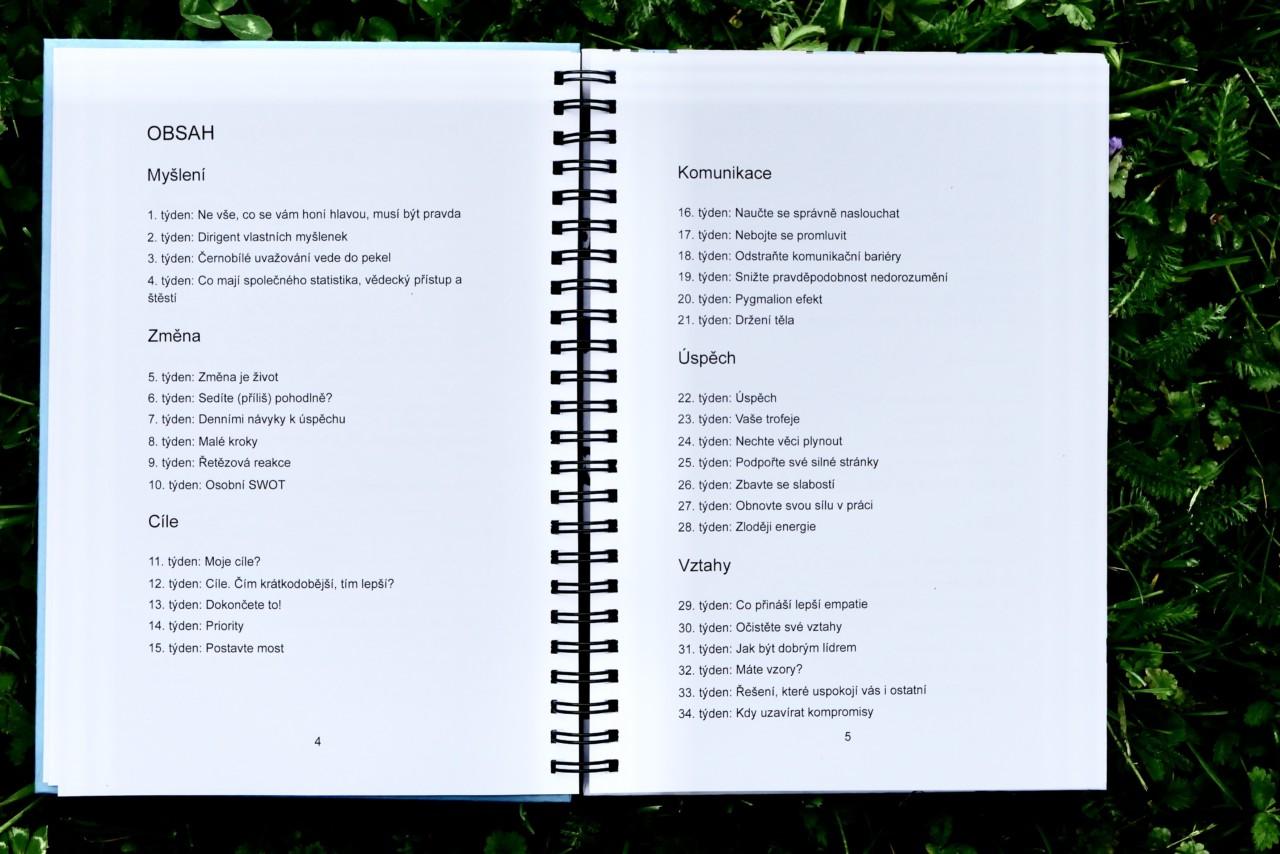 Koučinkový diář Mindset Academy - Obsah